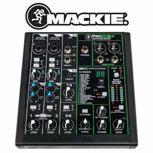 Mackie PRO FX6 v3 Mezclador de DJ 6 Canales Consola De Mezcla De Escritorio Compacto USB Home Studio