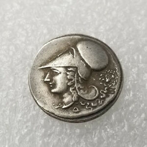 Silver-Plated-Greek-Coin-Copper-Coin-Ancient-Athens-Pericles-Coin