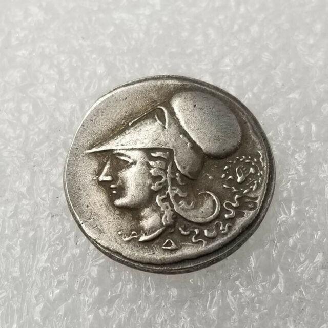 Silver Plated Greek Coin Copper Coin Ancient Athens Pericles Coin