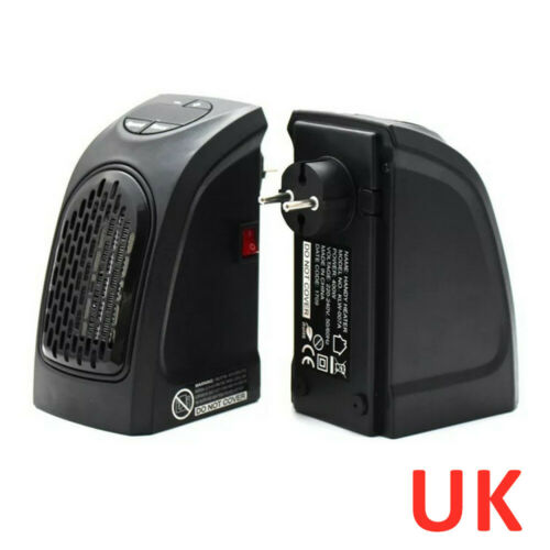 NEW ELECTRIC HEATER 400W SMALL PORTABLE INSTANT HEAT FREE STANDING US UK EU PLUG
