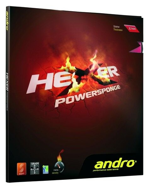 Andro Hexer Powersponge 2,1mm 2,1mm 2,1mm rot NEU OVP 2430a7