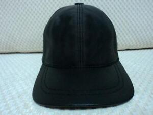 2 Black Leather Hat Cap with Porsche Ferrari Harley Davidson Honda Bmw Logo