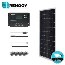 Renogy 100W 12V Mono Solar Panel Starter Kit 10A LCD Controller Battery Charger