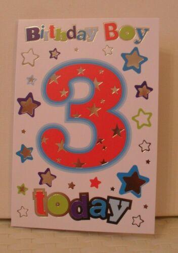 3 YEAR OLD BIRTHDAY CARDS