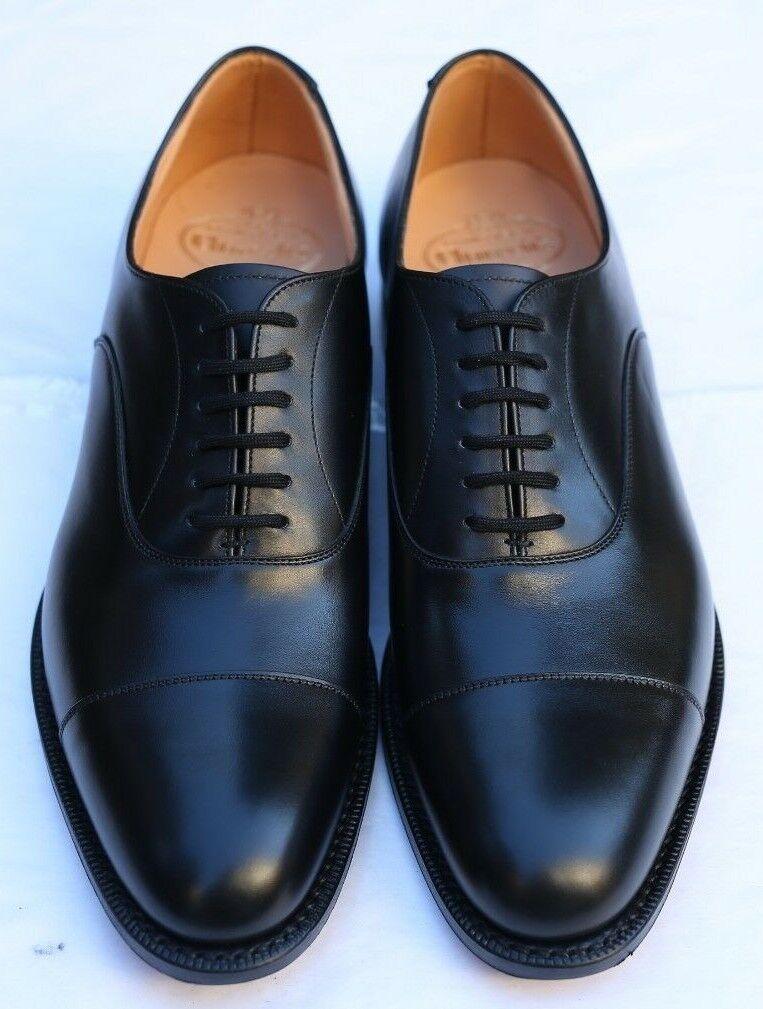 Nuevo y sellado de la Iglesia podría Ubai 'Oxford Negro Zapatos 7 nos G-Wide Fit