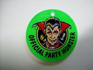 Dracula-Bally-Party-Zone-Original-NOS-1991-Pinball-Machine-Key-Chain-Monster