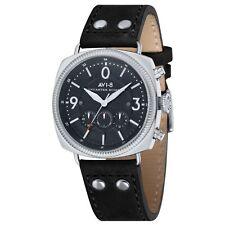 AVI-8 AV-4022-03 Mens Lancaster Bomber Black Leather Strap Chronograph Watch