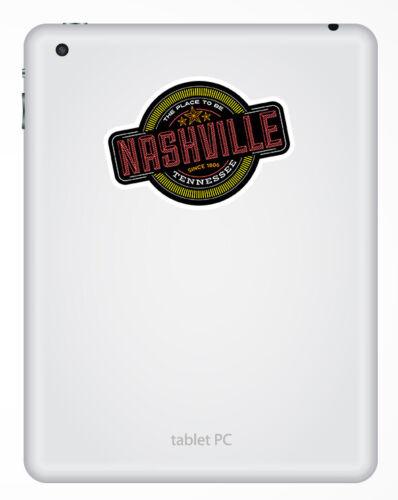 UU #18108 2 X 10cm Nashville Tennessee-pegatinas de vinilo Laptop Equipaje de la etiqueta engomada EE
