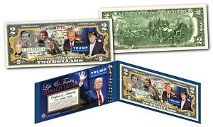 DONALD-TRUMP-2016-Presidential-LIFE-amp-TIMES-Genuine-Legal-Tender-US-2-Bill