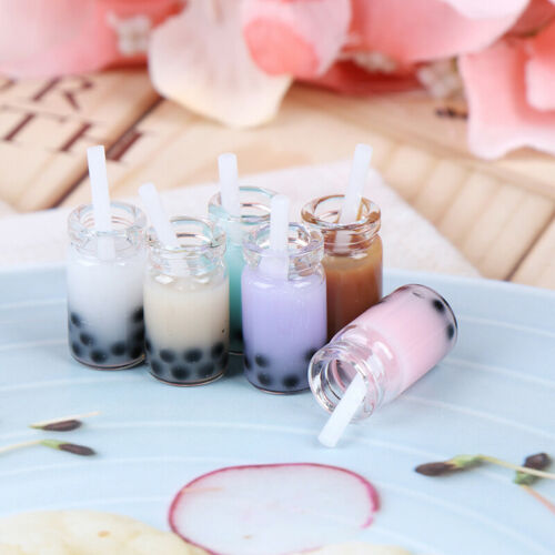 3Pcs 1:12 Dollhouse miniature milk tea cups mini toys doll house decoratiJB
