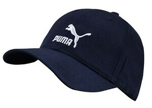 e7bce302aa9 PUMA ARCHIVE LOGO BB Tennis Caps Hat Navy Unisex Casual Head-wear ...