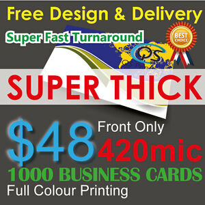 1000 business cards full colour printing front only on 420mic image is loading 1000 business cards full colour printing front only reheart