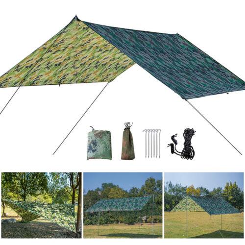 Waterproof Camping Tent Tarp Shelter Hammock Cover Lightweight Rain Fly 10x10 ft