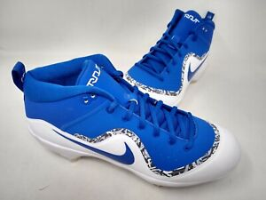 NEW! Nike Men's Air Trout 4 Pro Game Royal Cleats Blu/Wt/Gray#917920444 162A