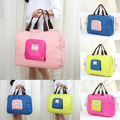 Reusable Waterproof Folding Eco Shopping Travel Shoulder Bag Pouch Tote Handbag
