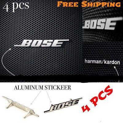 4X BOSE Nameplate Car Audio Speaker Emblem Badge Logo Sticker Harman Kardon Logo