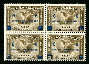 Canada-Stamps-C4-VF-OG-NH-Block-4-Scott-Value-280-00