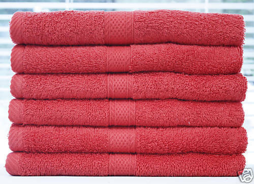 Lot 12 PCS  Premium Hand Towel WHOLESAL Hibiscus Red