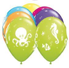 Sea Creatures Fish Octopus 6 Ocean Tropical Luau Latex Helium Quality Balloons W