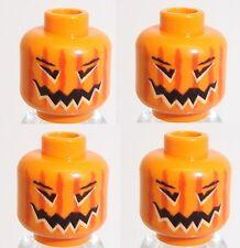 Lego Pumpkin Halloween Scarecrow Head x 4 Orange for Minifigure