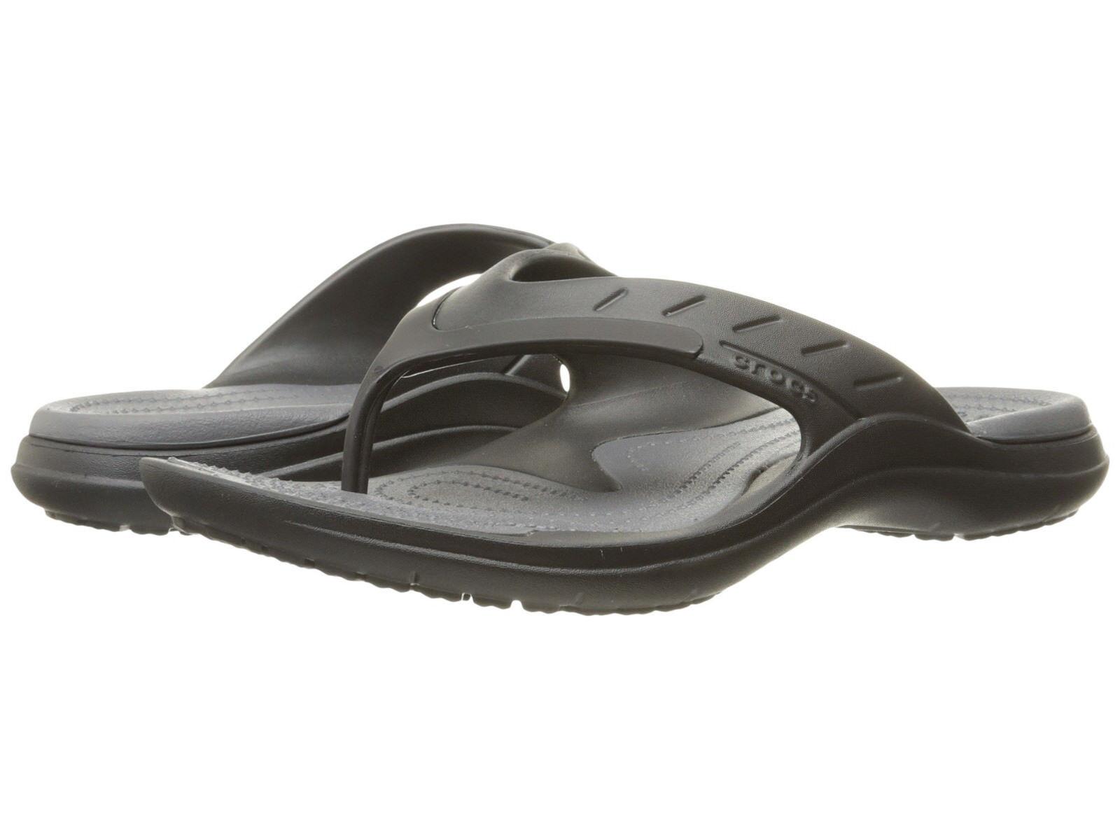 Men Crocs Modi Sport Flip Flop Sandal 202636-02S Black Graphit 100% Original New