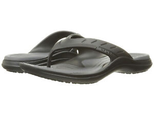f643d7cd5 Men Crocs Modi Sport Flip Flop Sandal 202636-02S Black Graphit 100 ...