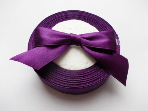 "Satin Ribbon 25mm 1/"" wide Crafts 10mm wide 10m 25m 100m For Cake Decorations"