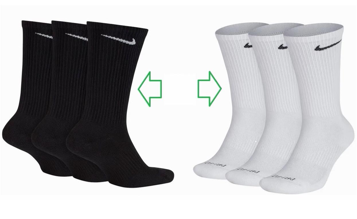 Unisex Adulto Mizuno Training 3p Socks Medias L White//White//White
