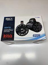 "Boss MRWT40 400W Max 4/"" 2-Way Coaxial Marine /& Powersports Speakers 4"
