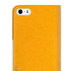 Tanned-Yellow-SwitchEasy-Flip-Cover-for-iPhone-5-5S-SE-Book-Case