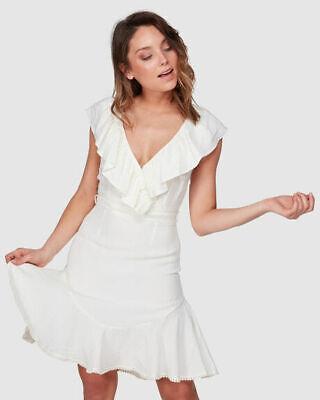 SIZE 12 RRP $169 LAST ONE BNWT TIGERLILY LADIES ALAMEA FRILL DRESS 0RANGE