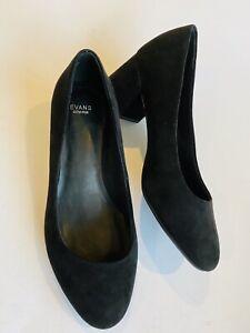 Large Size Ladies EVANS Black Faux