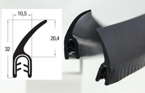 DF5-4,40€//m Kantenschutz Kantenschutzprofil mit Dichtung Fahne Dichtungsprofil