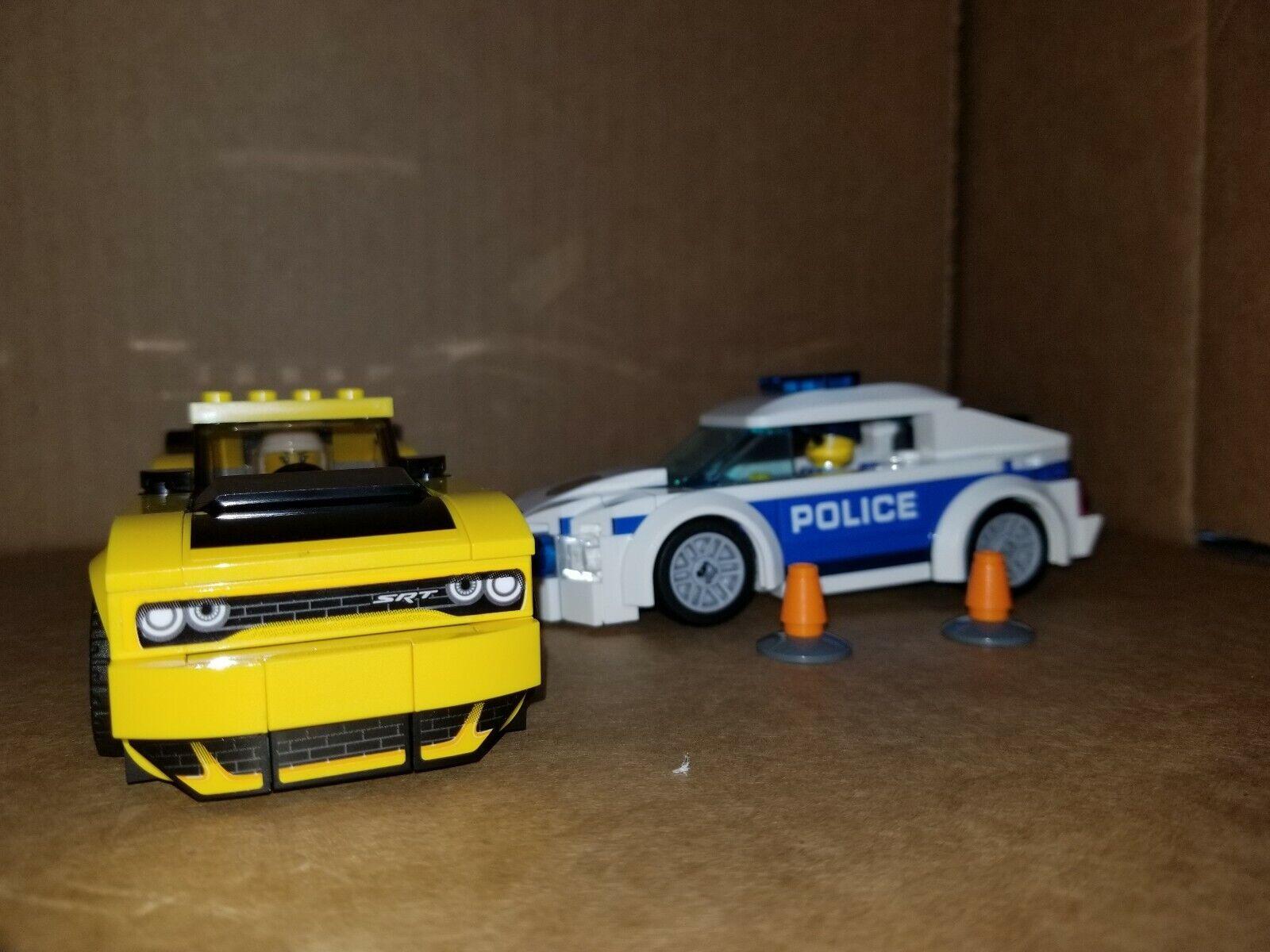 Lego Racing Champions 2018 Dodge Challenger SRT DEMON & City Police Patrol Car