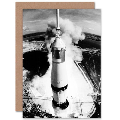 Nasa Apollo 11 Saturn Lift Off 50Th Anniversary Moon Landing Blank Greeting Card