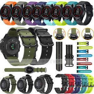 New-For-Garmin-Fenix-3-Fenix-5-5X-5S-Plus-Watch-Woven-Nylon-Silicone-Band-Strap
