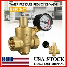 Dn20 34 Adjustable Brass Water Pressure Reducing Regulator Valves With Gauge Us