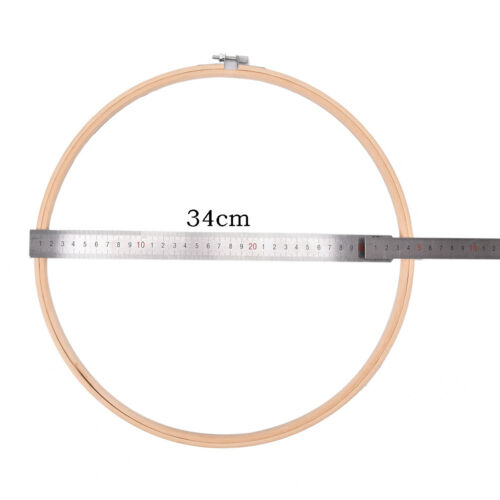 Wooden Cross Stitch Machine Bamboo Hoop Ring Embroidery Sewing JX