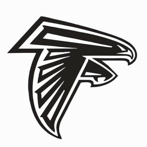 Atlanta City Falcon Football Logo Die-Cut Decal Sticker 5 Longer Side Set of 4 Pieces