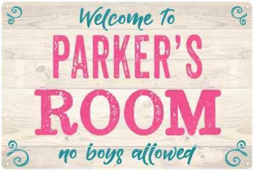 PARKER/'S Room Kids Bedroom Sign Personalized Metal Sign 108120089206