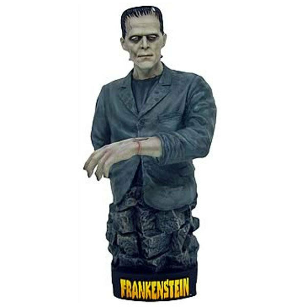 X PLUS BORIS KARLOFF FRANKENSTEIN MOSTRO HORROR 7  Statua Busto Figura