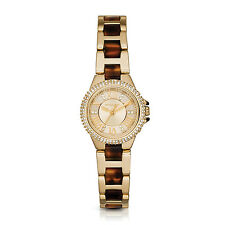 Michael Kors Women's MK4291 Mini Camille Round Tortoise and Gold-tone Watch