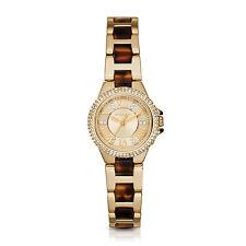Michael Kors Women's MK4291 Mini Camille Round Tortoise and Gold-tone Watch