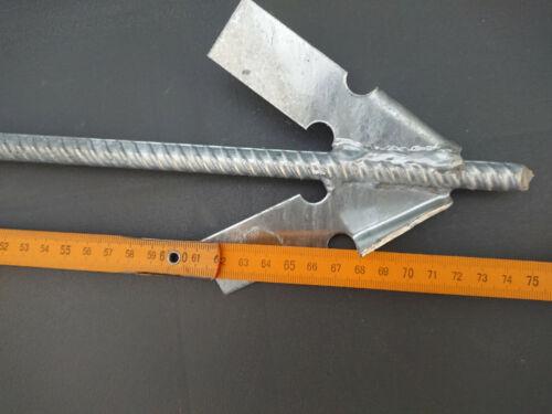 Erdanker Erdnagel Schlaganker 75cm //12mm f Widerhakenprinzip steinige Böden