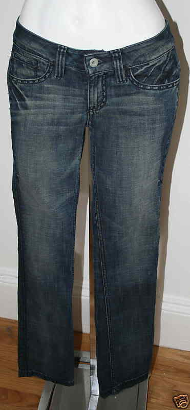 ANTIK DENIM Låg Rise VALERIE blå Jeans NEW Sz 24