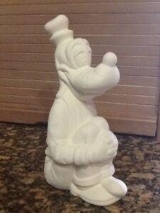 Walt Disney Goofy Ceramic Bisque Figurine Ready To Paint U