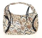 BORSA donna eco pelle stampa rettile marrone beige nera bianca shopper bag  F135 a882d0d285e