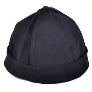 Man-Retro-Skullcap-Hat-Roll-Beanie-Cuff-Sailor-Docker-Biker-Ball-Player-Brimless