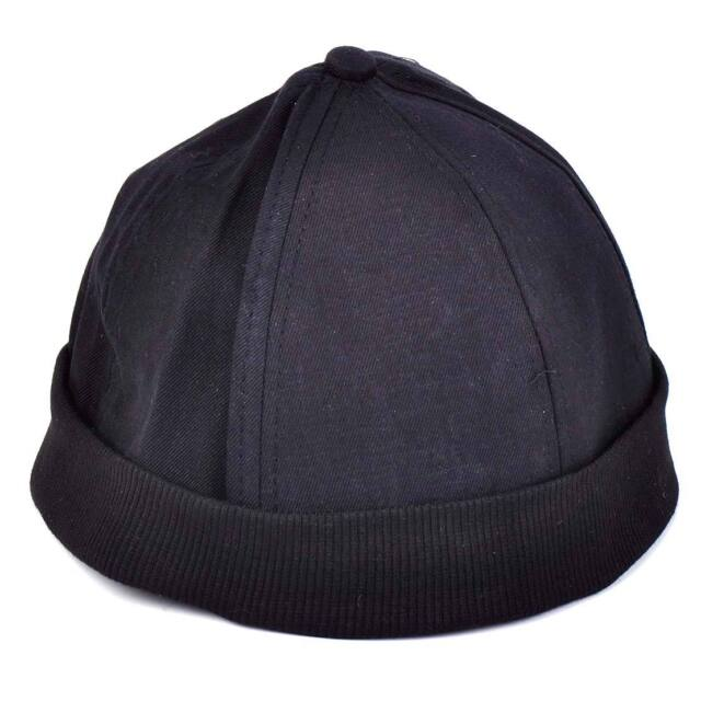 365c6d6226f73 Man Retro Skullcap Hat Roll Beanie Cuff Sailor Docker Biker Ball Player  Brimless