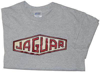 Jaguar older  XK style script 100% cotton T-shirt Med - XXL